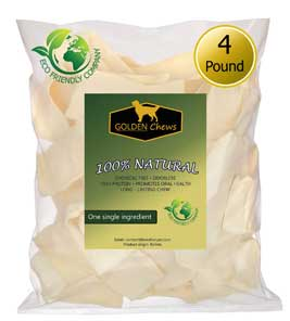 Golden Chews Natural Rawhide Chip