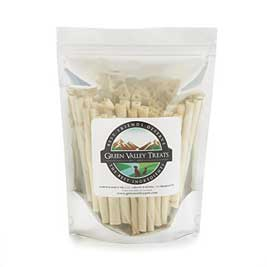 Green Valley Treats Rawhide Chews with Real Chicken
