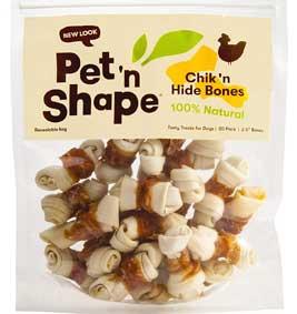 Pet 'n Shape Chicken Hide Natural Dog Bones