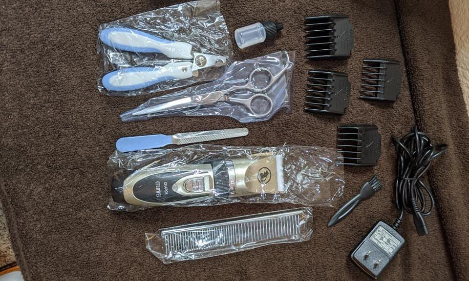 Best Dog Hair Trimmer with Shears Ceenwes Low Noise Pet Clipper