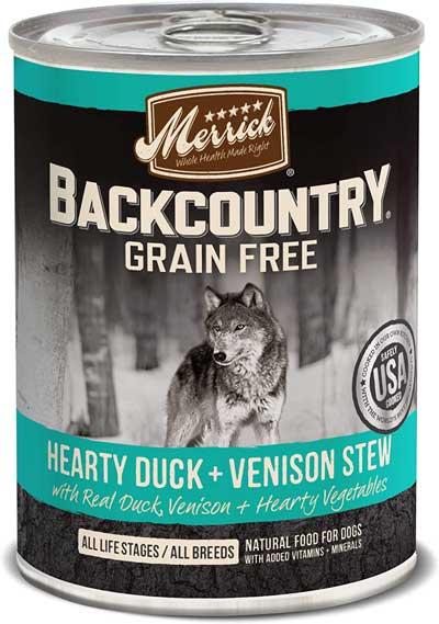 Merrick Backcountry Hearty Duck & Venison Stew Grain Free Wet Dog Food,